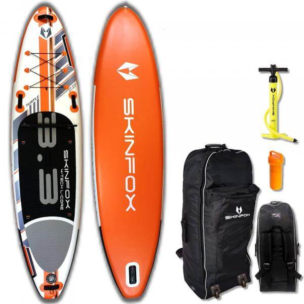 SKINFOX TURTLE ALU-SET (335x80x15) 4-TECH L-CORE SUP Paddelboard orange